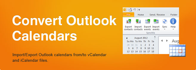 Convert Outlook Calendars. Import/Export Outlook calendars from/to vCalendar and iCalendar files.