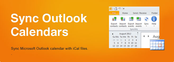 Synchronize Outlook Calendars. Sync Microsoft Outlook calendar with iCal files.